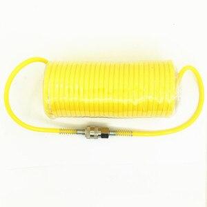 Image 2 - Manguera de PE telescópica de 7,5 M, tubo de manguera de aire neumática, peaje de compresor de aire con conector rápido europeo macho y hembra