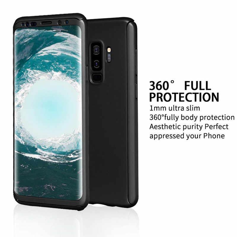 360 tam koruyucu telefon samsung kılıfı Galaxy A10 A20 A40 A50 A70 S8 S9 S10 artı S7 kenar A8 A6 2018 not 8 9 10 çapa kapak A