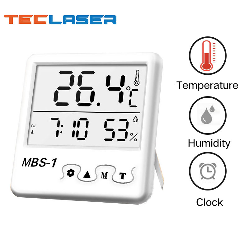 MAKINGTEC Digital Temperature Humidity Meter Monitor For home Greenhouse Hygrometer Thermometer Measuring Clock Weather Station