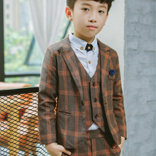 Flower Boys Formal Wedding Suit Kids England Style Blazer+Pa