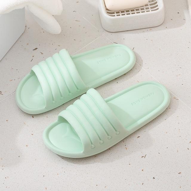 Verão feminino interior chinelos chão sapatos planos indoor eva flip flops feminino antiderrapante casa de banho chinelos zapatillas de hombre 3