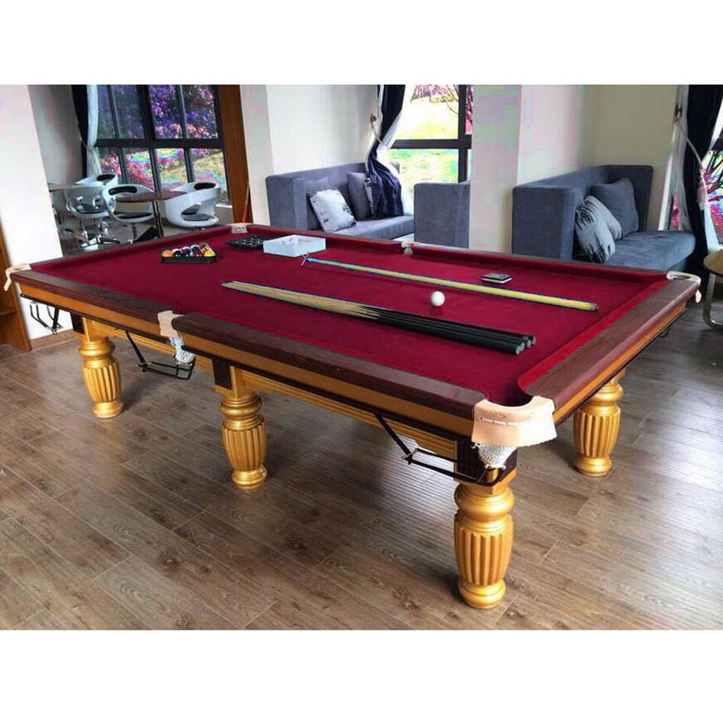 9 ft wełniany stół bilardowy 9ft stół bilardowy filcowy Snooker akcesoria bilardowe