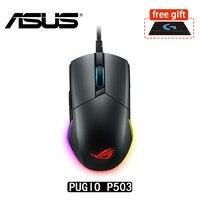 ASUS ROG Pugio P503 Aura RGB USB Wired Optical Ergonomic Ambidextrous Gaming Mouse