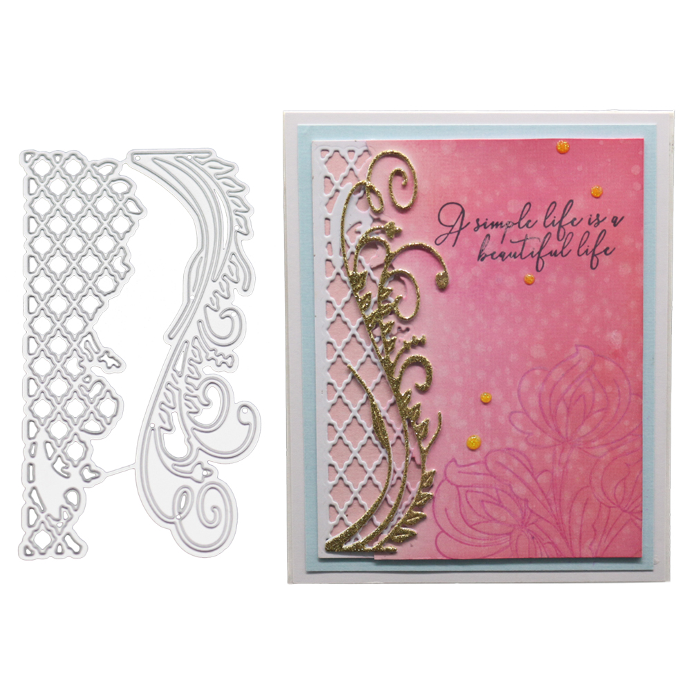 Lace Grid Background Stencils for DIY Scrapbooking Paper Cards Making Album Decorative Embossing Clear Stamps And Dies 2019 New|Cutting Dies|   - AliExpress