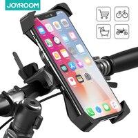 Soporte de teléfono para bicicleta, Soporte de rotación de 360 ° bloqueo seguro y protección completa, para bicicleta de montaña y motocicleta para Smartphon de 4-6,8 pulgadas
