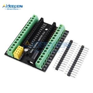 Parafuso de Expansão Do Terminal Adapter Board Para Arduino Nano Nano V3.0 AVR NRF2401 + Expansão ATMEGA328P Com DC Interface De Alimentação DC