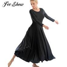 Adulti Ballerina Vestito Dal Tutu di Balletto Body per Le Donne Lyrical Discoteca Costume di Ballo Moderno e Contemporaneo Loose Fit Vestito Lungo