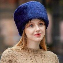 HT2851 Men Women Winter Hat Thick Warm Fur Hat Russian Earfl