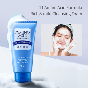 HANAJIRUSHI Amino Acid Foam Cleanser Hyaluronic Acid Face Wash For Dry Skin Oil Skin Combination Skin  Limpiador Facial 150ml недорого