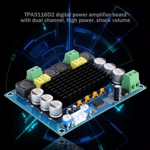 Image 3 - 2x120W TPA3116D2 ערוץ כפול סטריאו גבוהה כוח דיגיטלי מגבר אודיו לוח XH M543 אודיו Amp מודול TPA3116 DC12 ~ 26V