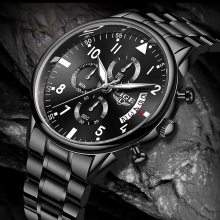 2020 LIGE Mens Watches Top Brand Luxury Fashion Business Quartz Watch Men Sport All Steel Waterproof Black Clock erkek kol saati lige fashion mens watches top brand luxury wrist watch quartz clock stainless steel waterproof sport watch men erkek kol saati