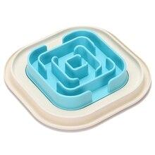 Big deal Pet Dog Bowl Healthy Soft plastic Slow Food Feeder Anti Travel Bowl For Cat Dog Food Feeding