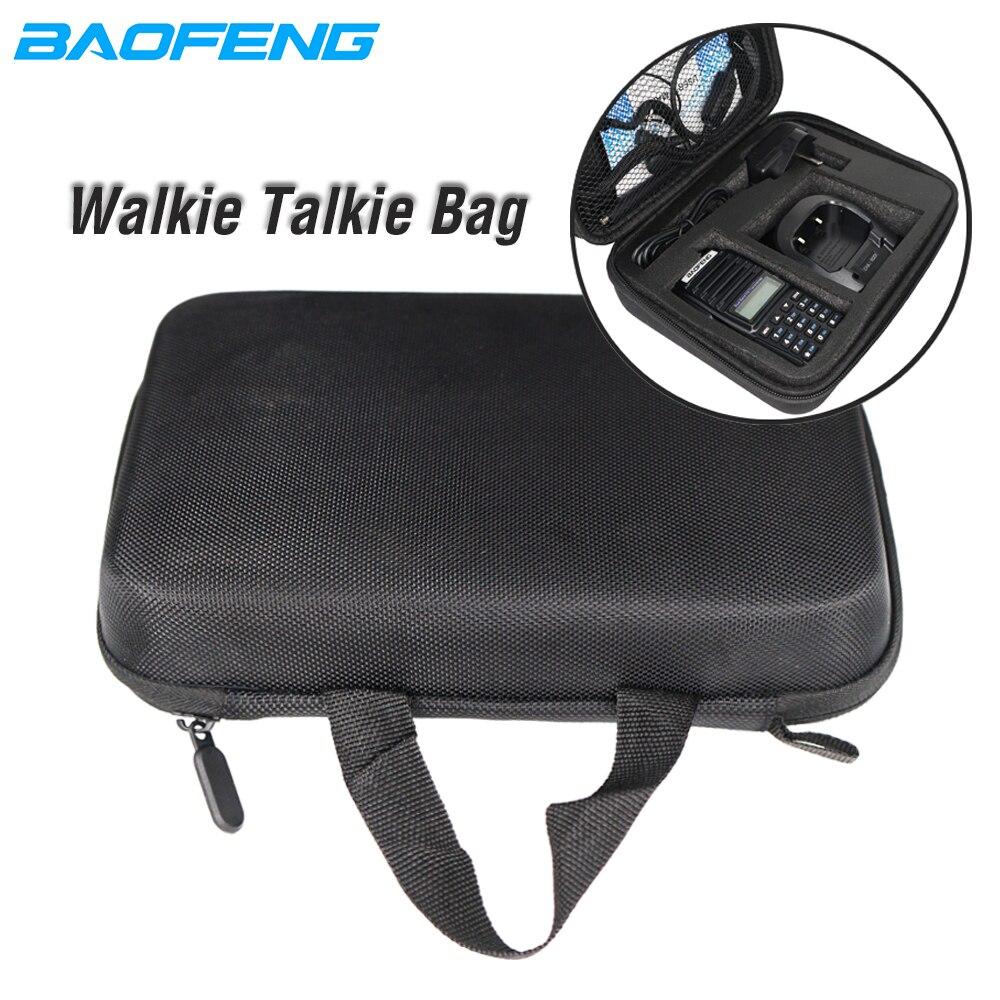Walkie Talkie Portable HandBag Launch Hunting Bag Baofeng CB Radio Case Nylon Protective For Baofeng UV82 UV5R UV-82 Bf888S