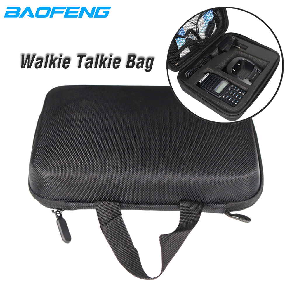 Walkie Talkie Portable HandBag Launch Hunting Bag Baofeng CB Radio Case Nylon Protective For Baofeng UV82hp UV5R UV-82 Bf888S