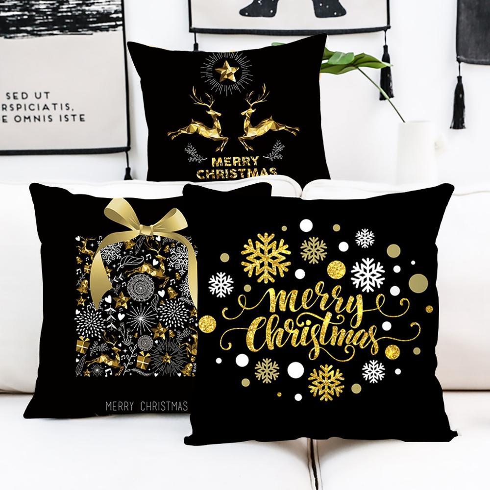 Wesołych świąt pokrywa poduszki dekoracje świąteczne dla domu szczęśliwego nowego roku 2020 Noel 2019 ozdoby świąteczne prezenty boże narodzenie wystrój - aliexpress
