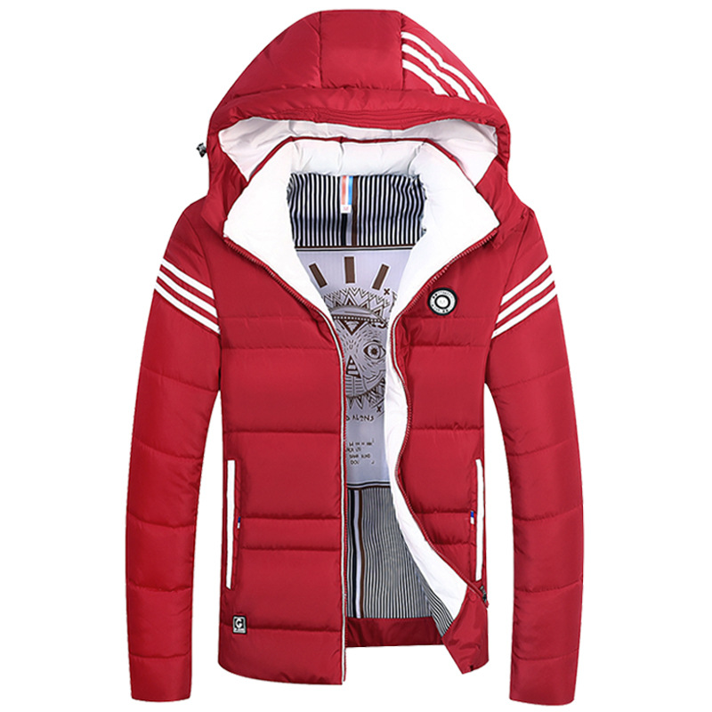 Warm Cotton Jacket Single-breasted Casual Thick Warm Hooded Jacket Men's Winter Thick Short Coat Youth