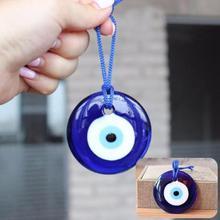 Shellhard Lucky турецкий синий стеклянный злой амулет в виде глаза трендовые Висячие амулеты украшение стены автомобиля офиса Декор