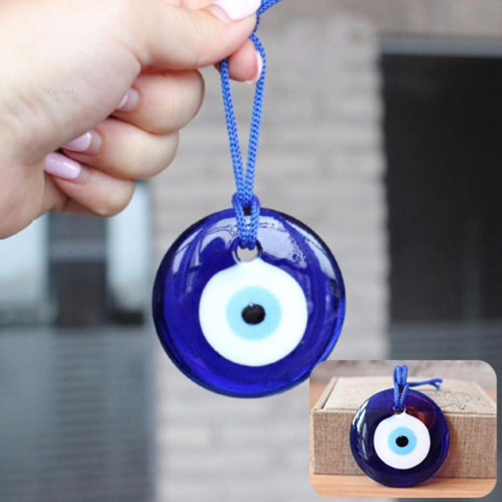 Shellhard Lucky Turkish Blue Glass Evil Eye Amulet Trendy Hanging Charms Car Office Wall Decoration Decor