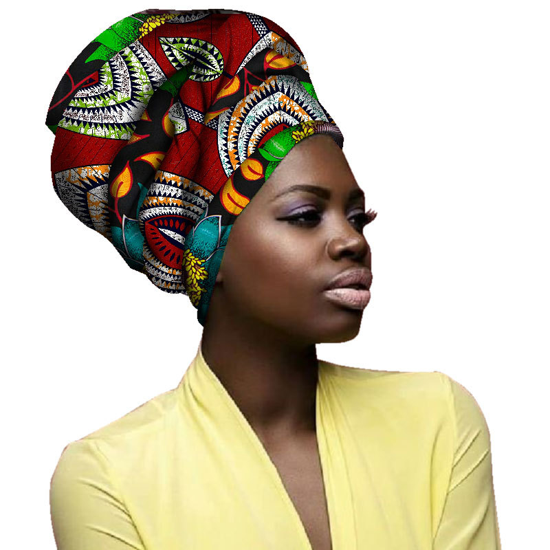African Headtie Turban Wax Fabric Headwrap Ankara Bonnets Accessories Bandanas Lady Hijab Scarf Hat Long Tail Cap South Africa