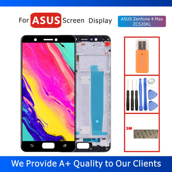 100% Tested 5.2 LCD Display for ASUS Zenfone 4 Max ZC520KL Display with Touch Screen Digitizer Assembly Frame Replacement Parts 100% tested original lenovo s90 lcd display touch screen digitizer pannel assembly with frame replacement s90 t s90 u s90 a tool