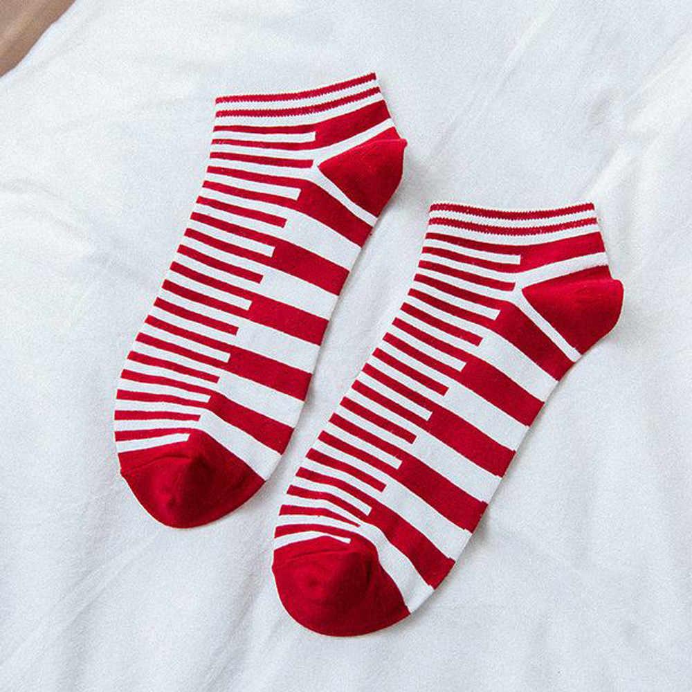 Hoge kwaliteit Gestreepte stijlvolle nieuwe stijl Mode boot sokken mannen Vier Seizoenen Gestreepte Low Cut Sokken Katoen Sport Boot sokken