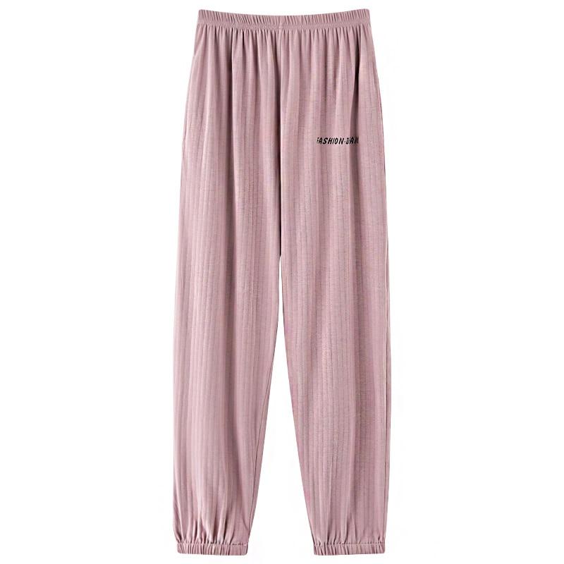 2021 Female Spring Summer Long Sleep Bottoms Womens Pajama Sleepwear Pants Plus Size Cotton Pyjama Trousers Print Sleep Bottoms