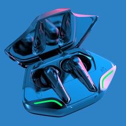 TWS Беспроводные Bluetooth Игровые наушники спортивные водонепроницаемые светодиодный дисплей наушники с шумоподавлением HIFI стерео Бас геймер ...