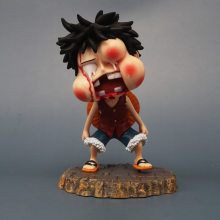 Figura de una pieza de 12cm, muñeco de Anime de dibujos animados Luffy Be blown face, juguete hinchable de PVC, dibujos animados de Anime, decoración divertida de habitación Kawaii(China)