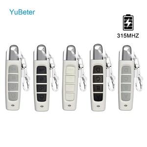 Image 1 - YuBeter 315 МГц RF пульт Управление клонирование Дубликатор duplo и Беспроводной Электрический контроллер копирования Управление; ABCD 4 кнопки ключи гаражные ворота открывания двери