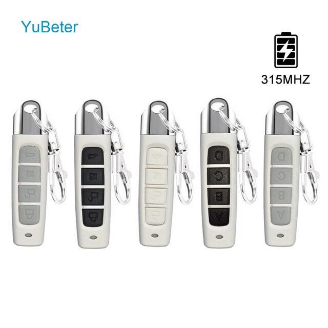 YuBeter 315 МГц RF пульт Управление клонирование Дубликатор duplo и Беспроводной Электрический контроллер копирования Управление; ABCD 4 кнопки ключи гаражные ворота открывания двери