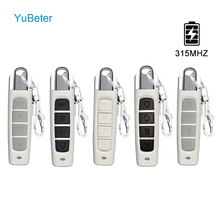 YuBeter 315MHZ 원격 제어 복제 복제기 무선 전기 복사 컨트롤러 ABCD 4 버튼 자동차 키 차고 게이트 도어 오프너