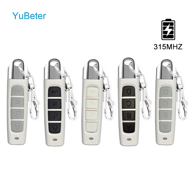 YuBeter 315MHZ Remote Control Cloning Duplicator Wireless Electric Copy Controller ABCD 4 Button Car Key Garage Gate Door Opener