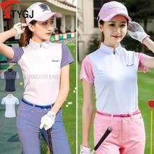 Golf-Shirts Sportswear Short-Sleeve Womens Summer New Outdoor Korea