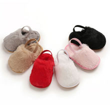 2019 Autumn Newborn Toddler Girl Fur Sneakers Baby Summer Shoes Soft Sole Sandals