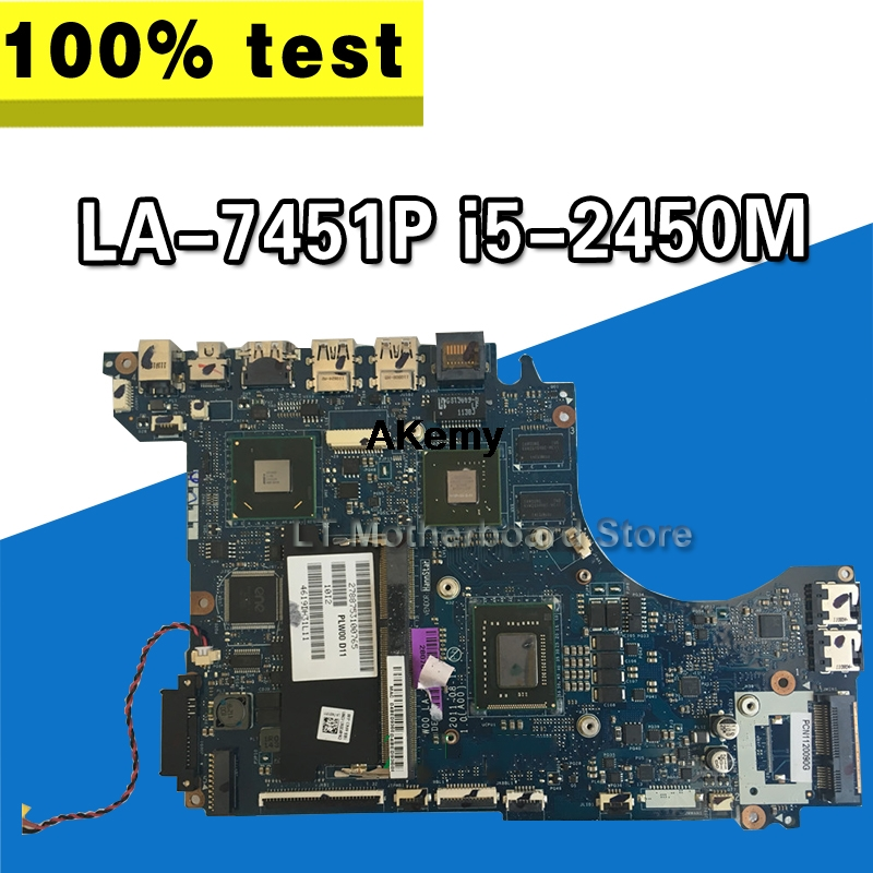 For DELL XPS 14z L412z Laptop Motherboard <font><b>i5</b></font>-<font><b>2450M</b></font> CPU GT520M GPU LA-7451P CN-01GY8V 01GY8V 1GY8V Tested 100% work image