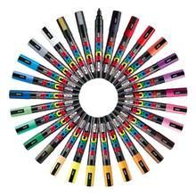 Ensemble de stylos à peinture Uni Mitsubishi Posca, 3M/5M/8K/17K, 7/8/12/15 couleurs/ensemble