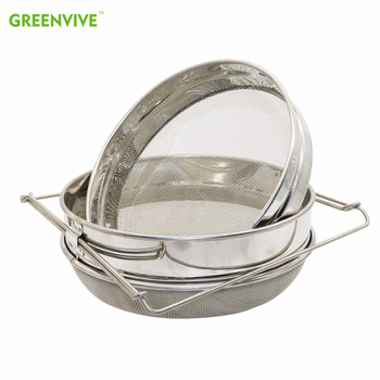 Stainless Steel Double-layer Honey Sieve Filtration Bee Honey Filter Strainer Machine Tool Extractor Beekeeping Tools недорого