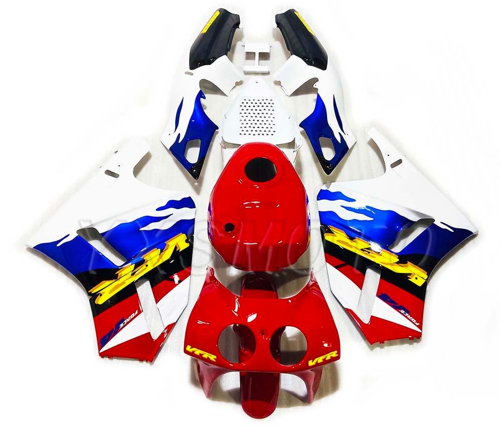 Brand New For VFR400 VFR 400 Plastic Fairing Kit 30V4 Blue Red Bodywork Fairings VFR 400 30 Issues