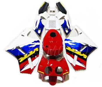 Brand New For VFR400 VFR 400 Plastic Fairing Kit 30V4 Blue Red Bodywork Fairings VFR 400 30 Issues