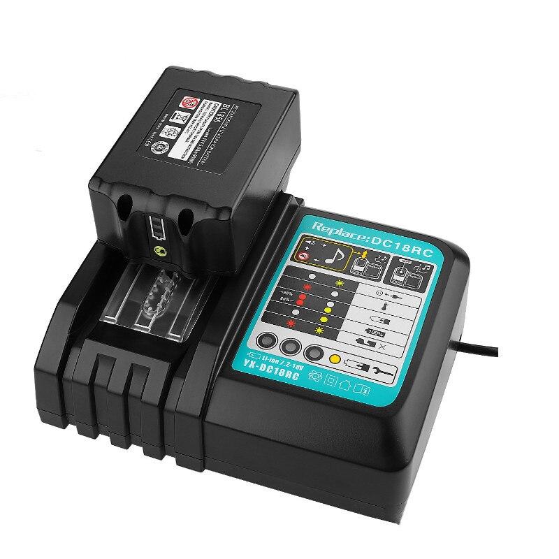 Зарядное устройство для Makita 14,4 V 18V BL1830 Bl1430 DC18RC DC18RA EU Plug 1 шт. USB адаптер для вашего телефона Бесплатная доставка|Зарядные устройства|   | АлиЭкспресс