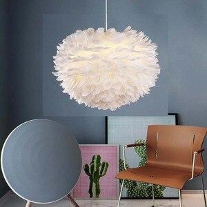 Image 3 - قلادة على هيئة ريشة أضواء Hanglamp قلادة مصباح الشمال تصميم بريق Loft Loft ديكور غرفة الطعام المطبخ المنزل تركيبات إضاءة LED