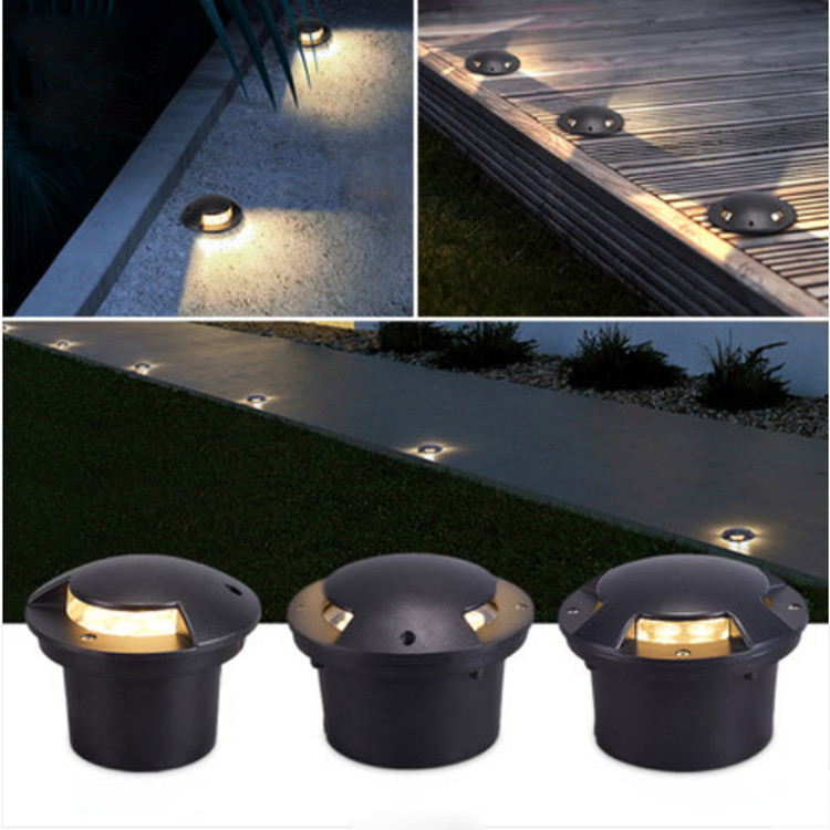 Ip65 1 2 3 4 Side Lighting 150*H90mm Decklight 7W Black Led Underground Light
