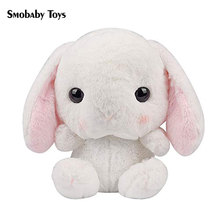 High quality 55cm cartoon rabbit stuffed backpack toy cute rabbit plush shoulder Bag doll furry children backpack for kids gifts cute rabbit plush backpack cartoon stuffed plush doll children school bag gifts for kids