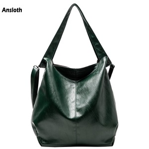 Ansloth Soft Leather Shoulder Bags Luxury Handbags Women Bags Large Capacity Top Handle Bags Women's Tote Bag Crossbody HPS884