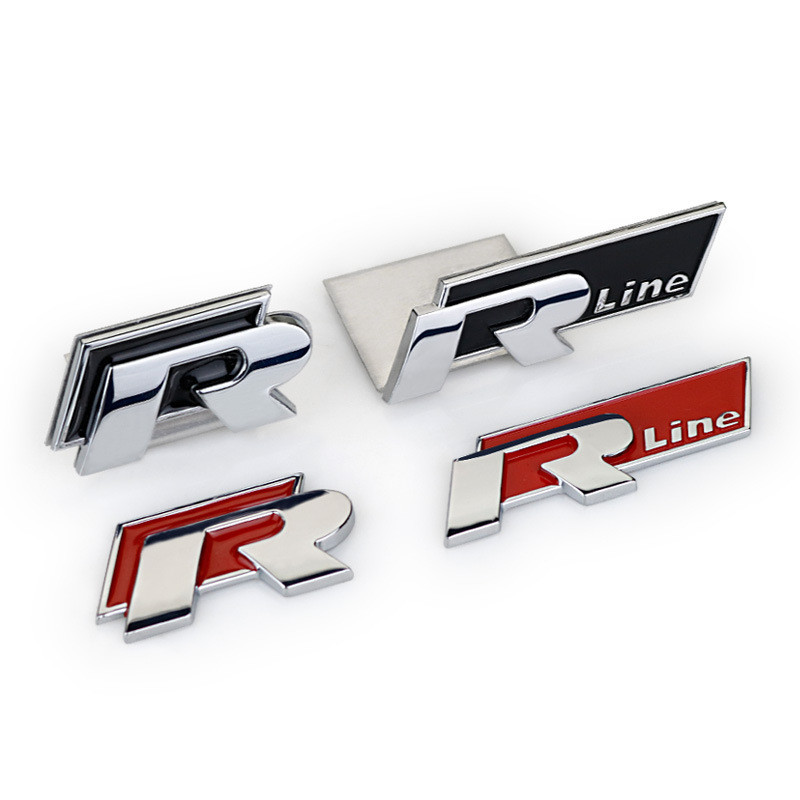 R  Sticker Emblem Car Steering Wheel Cover Sticker Rline For VW Golf MK7 Passat Jetta Lamando