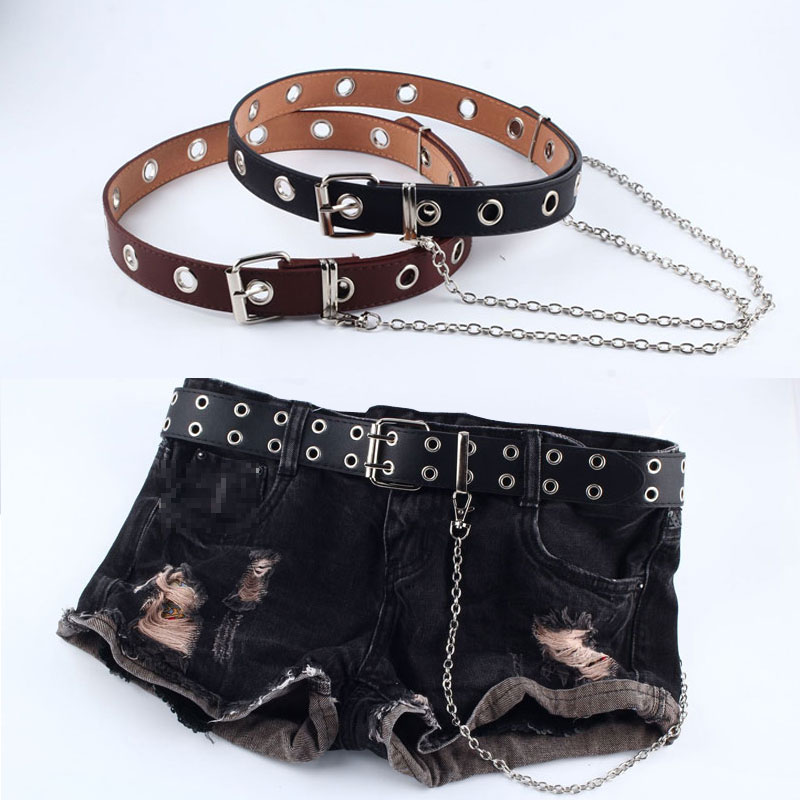 Hot Waist Belt Detachable Fashion Rivet Belt For Women Punk Hip-hop Chain Belt Pin Buckle Waistband Jean Women Belt Pasek Damski