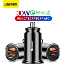 Baseus 30W Quick Charge 4.0 3.0 USB Car Charger For Xiao Mi9