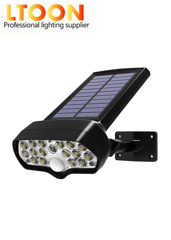 nieuwe solar 16 corey led pir bewegingssensor lichten ao ar livre waterdichte ip65 muur solar luz