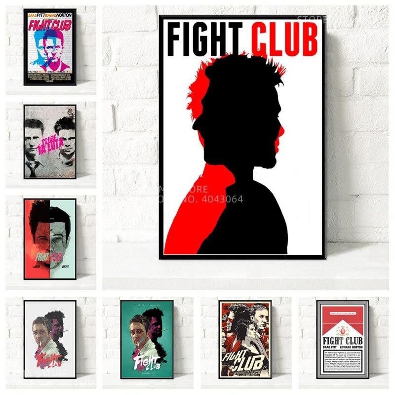 Fight Club Wall Decor Gift Fight Club Painting Fight Club Movie Poster On Canvas Fight Club Wall Art Fight Club Artwork Print