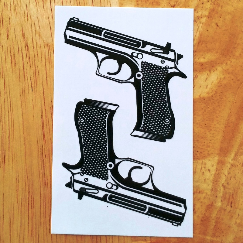 Waterproof Temporary Tattoo Sticker On Body Sexy Lace Pistol Gun Tatto Stickers Flash Tatoo Fake Art Tattoos For Girl Women Men
